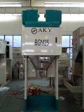 컨베이어와 재봉틀을%s 가진 녹두 자루에 넣기 기계