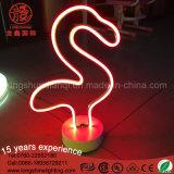 Lampada della Tabella del fenicottero della scultura del cactus della decorazione LED del segno al neon di alta qualità per stanza