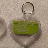 큰 마음 모양 공백 아크릴 열쇠 고리 투명한 Keychain Swt5742-K2