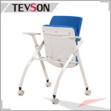 Tela del visitante de la reunión de la oficina y silla ejecutivas plegables modernas del entrenamiento del plástico
