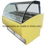 8 congelador do indicador de Gelato do gelado das bandejas 90cm mini