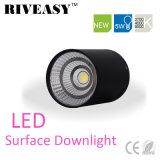 iluminación negra montada superficie SMD de Downlight LED de la MAZORCA de 5W LED