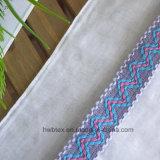 Hochwertige normale Farben-Baumwolldame Scarf mit Spitze (HWBC31)