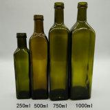 Оливкового масла бутылки квадрата бутылки оливкового масла OEM фабрики бутылка 100ml 250ml 500ml 750ml 1000ml оптового стеклянная