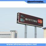 Frente Serive de la INMERSIÓN P10 que hace publicidad de la visualización de la cartelera del LED