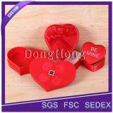 Rectángulo de regalo elegante brillante de boda de la dimensión de una variable del corazón del estilo más caliente