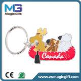 Lustiges Clown-Karikatur-Metall Keychain mit dem Gold beendet