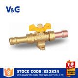 Vávula de bola de petróleo y del gas del acero inoxidable de la pulgada del 1/2 (VG-A90341)
