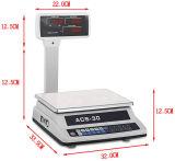 Double Side Display com Pole Electronic Platform Price Computing Scale
