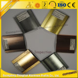 家具の装飾のためのOEMによって陽極酸化される光沢があるブラシをかけられたアルミニウムセクション