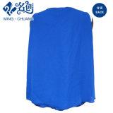 Blauer Sleeveless V-Ausschnitt reizvolle lose Form-Bluse