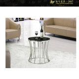 작은 공간 작은 유리제 둥근 커피용 탁자 (YF-170094T)를 위한 커피용 탁자