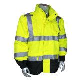 Workwear куртки безопасности видимости основного типа зимы высокий