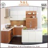 Module de cuisine en bois de PVC de meubles à la maison en bois modernes de type