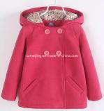 Cappotto rosso pallido del condotto del cotone del `S della ragazza