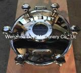 40cmの衛生圧力円形のマンホールカバー(ステンレス鋼6hands)
