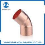 Encaixe de tubulação de cobre da alta qualidade cotovelo de 45 graus
