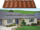Telha revestida colorida da folha do telhado do metal/telhado da pedra