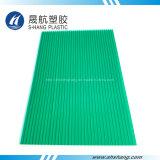 Hoja verde de la depresión de la PC del policarbonato con la capa ULTRAVIOLETA