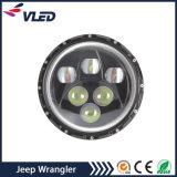 Linterna redonda de la pulgada LED de los accesorios 7 de Jk del Wrangler para los vehículos campo a través de la motocicleta del jeep