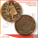 3Dデザインの滑稽な真鍮の挑戦硬貨