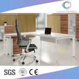 Heißer verkaufenmelamin-fertiger Metallbüro-Chef-Tischplattentisch