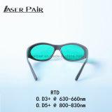 Laser-Schutz-Augen-Gläser für Dioden-Laser des Laser-Haar-Abbau-Maschinen-Fachmann-808nm Shr mit Sport-Art und schwarzen Farben