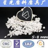 Сплавленная песчинка алюминиевой окиси зерна алундума белая