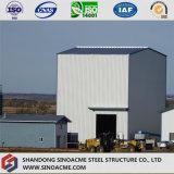 Edificio industrial pesado del marco de acero con alta calidad