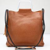 bolso de hombro de las señoras del bolso del cuero genuino del diseño de la manera con la borla Emg5109