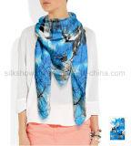 Gedruckter langer Schal der Dame-100% reiner Silk Zoll