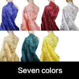 Tessuto africano del merletto del ricamo di colore dell'alzavola per il vestito da cerimonia nuziale