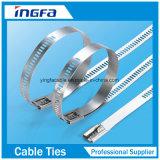 304 ataduras de cables del infante de marina de las ataduras de cables del acero inoxidable