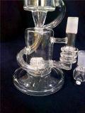 Pipe en verre claire fabriquée à la main de fumée de tabac du narguilé AA-84