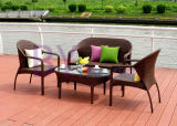 Combinación al aire libre del jardín del balcón del chalet del hotel de vector y de sillas de la rota de la rota Sofa/PE del PE