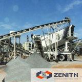 передвижной каменный задавливая завод дробилки утеса 50-650tph