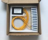 Splitter GPON Telecomunicaciones 1X16 caja plástica de PLC