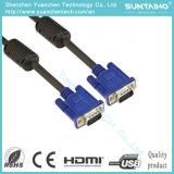 Mâle d'OEM HD 15pins au câble mâle du VGA