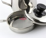 Potenciômetro do petróleo do aço inoxidável com engranzamento do filtro (FT-03404)