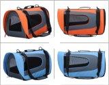 Sac d'épaule pliable portatif approuvé de transporteur d'animal familier de grande course neuve
