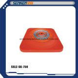 Barreira plástica vermelha do tráfego do cone que para o cone para o tráfego