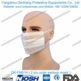 Masque protecteur chirurgical remplaçable de respirateur du Nonwoven 1ply pour médical/hôpital Qk-FM013