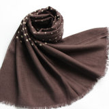 100% Worsted Wool Printed Stole Shawl (AHY30002233)