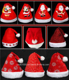 大人および子供のためのプラシ天のクリスマスの帽子
