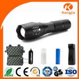 O ODM do OEM aceita a lanterna elétrica tática militar leve longa da distância Xml-T6