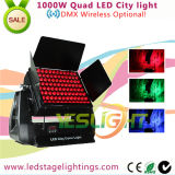 LEDs 4en1 1000W LED City Color de luz 96PCS * 10W RGBW para la decoración al aire libre sin hilos de DMX