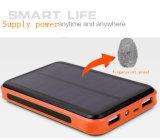 banco inteligente da potência 9000mAh solar