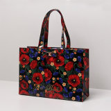 Señora floral impermeable Handbag (T042-2) de los bolsos de compras del PVC de la talla adicional