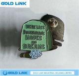 Insigne fait sur commande en métal de Pin en métal de Pin de mode de revers fait sur commande de tissu