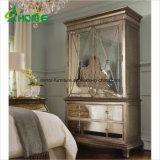غرفة نوم تخزين 2 أبواب رخيصة مرآة خزانة ثوب